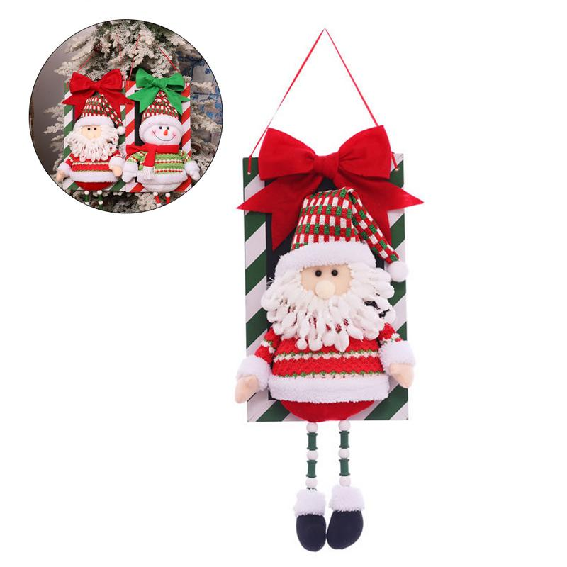 New Creative Santa Snowman Pendant Christmas Decorations Christmas Window Ornaments Outdoor Indoor Decorative Signs For Home