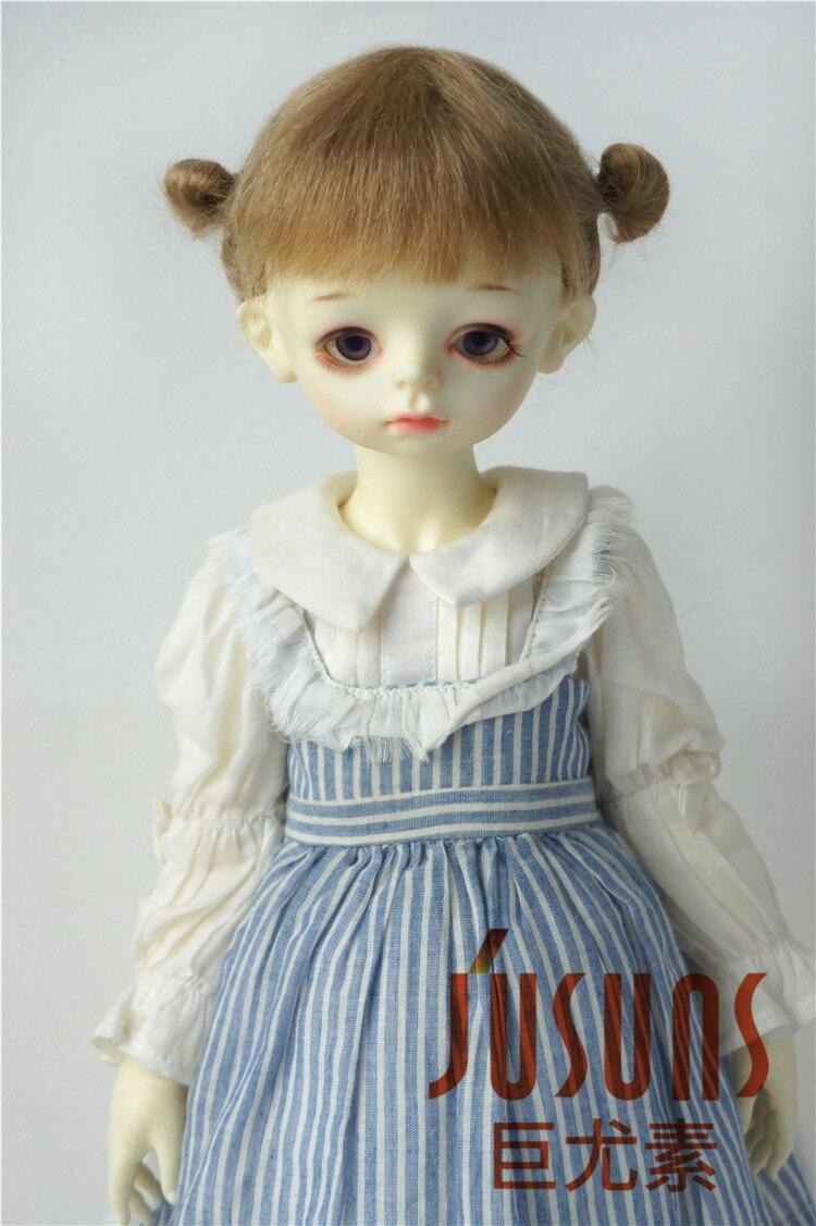 JD415 большой размер две косы BJD мохер парики в размере 8-9 дюймов 10-11 дюймов для кукол мягкие модные волосы куклы аксессуары - Цвет: 8-9inch Ash Blond