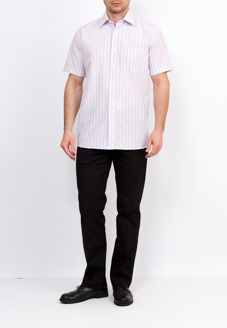 Shirt men's short sleeve GREG Gb171/309/409/Z Lilac