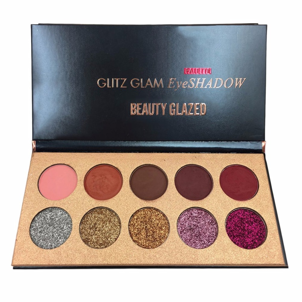 Beauty Glazed 10 Color Professional Eyeshadow Pallete Glitter Shimmer Matte Eye Shadow Palette Eye Make Up Girls Cosmetics Tools все цены