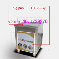 2018 single square pan ice cream machine,stainless steel ice pan ice cream machine,110V fried rolls pan