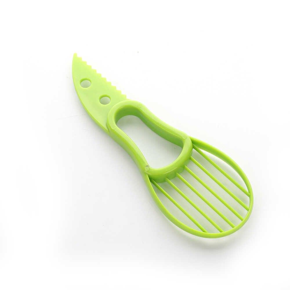Cocina 3 en 1 rebanadora de aguacate Shea Corer mantequilla fruta pelador cortador de pulpa separador cuchillo de plástico herramientas vegetales accesorio para el hogar