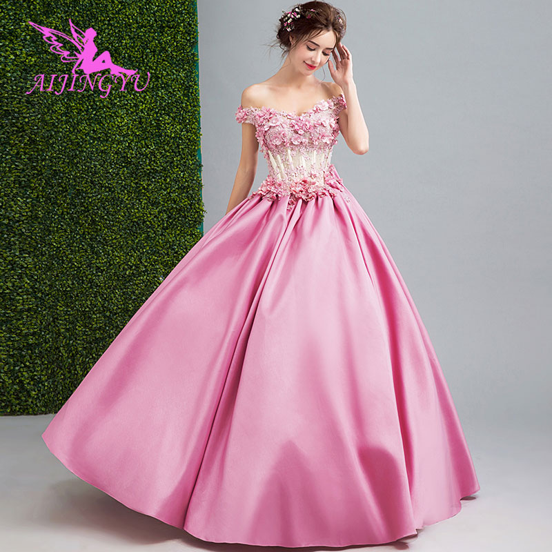 AIJINGYU 2018 Luxury Free Shipping New Hot Selling Cheap Ball Gown Lace Up Back Formal Bride Dresses Wedding Dress TJ510