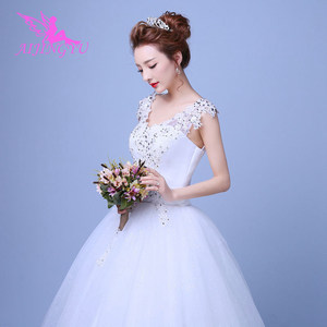 Image 3 - AIJINGYU 2021 gowns new hot selling cheap ball gown lace up back formal bride dresses wedding dress WK659
