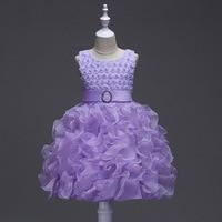 Adorable Dziewczyny Sklep Nowe Dzieci Księżniczka Kwiat Dziewczyny Suknie Ślubne Ball Formalne Letnie Maluch Girl Dress Dzieci Sukienek