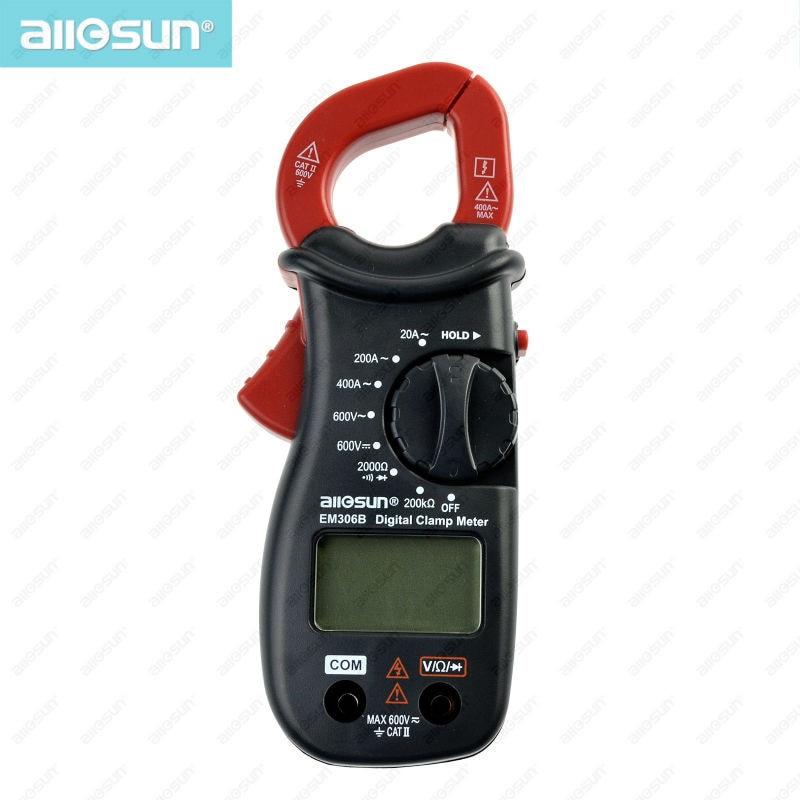 Digital Clamp multimeter AC/DC current meter Continuity Test With Buzzer Electronic Tester ammeter voltmeter all-sun EM306B  цены