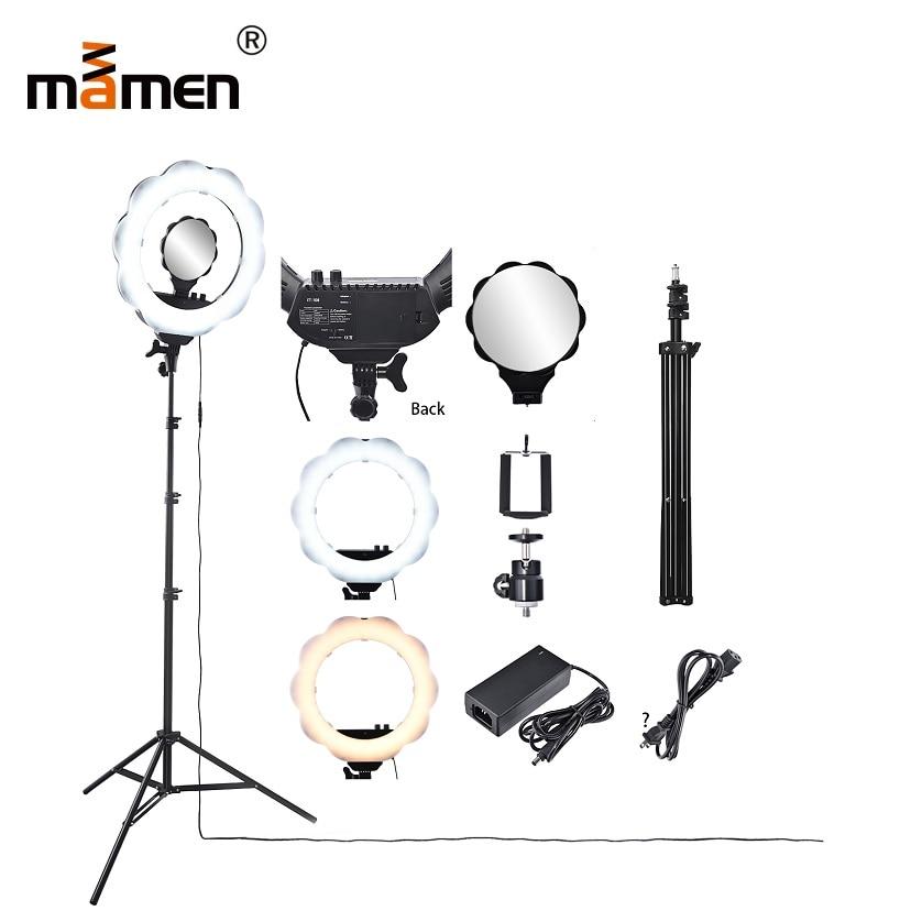 Mamen Camera Video Video Lighting Iluminación 384pc LED Light - Cámara y foto