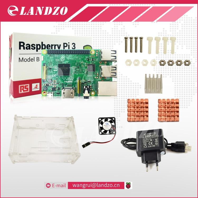 D Raspberry Pi 3 Model B starter kit pi 3 board pi 3 case EU power
