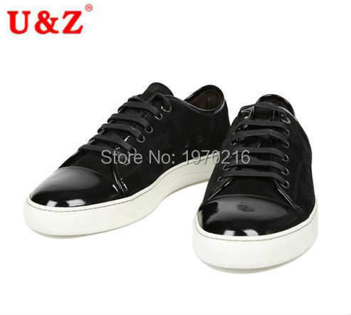 New York fashion men's big size shoes US11,Young men Spring Fall Black/Brown suede leather casual shoes,Practical Shoes for men