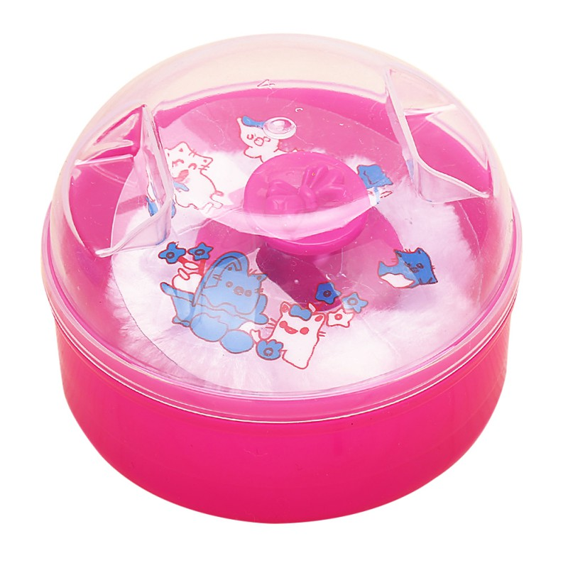 Baby Face Comfortable Sponge Fluff Puff With Puff Box Hazelnut Powder Puff Box Baby Puff Powder Talcum Case 3 Colors
