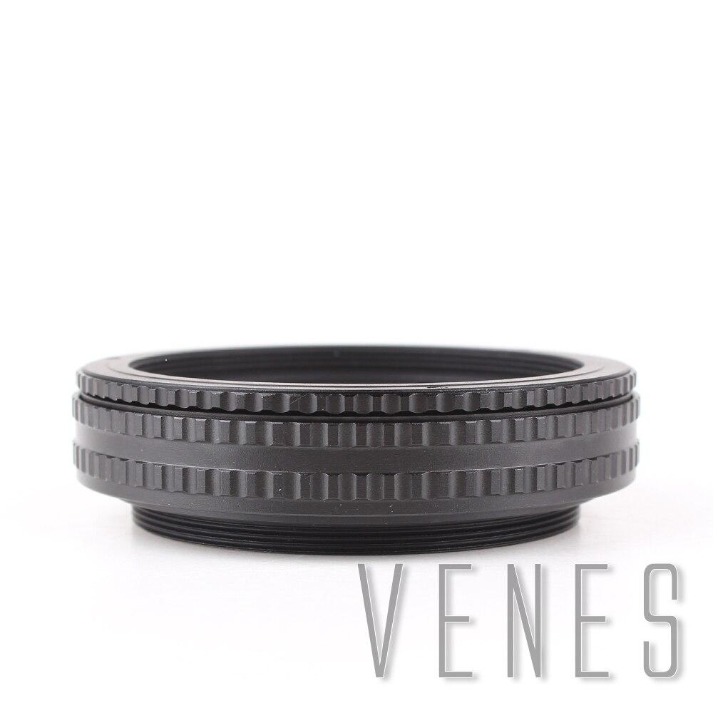 Venes M65 à M65 monture lentille réglable mise au point hélicoïdal 17mm-31mm Macro Tube adaptateur