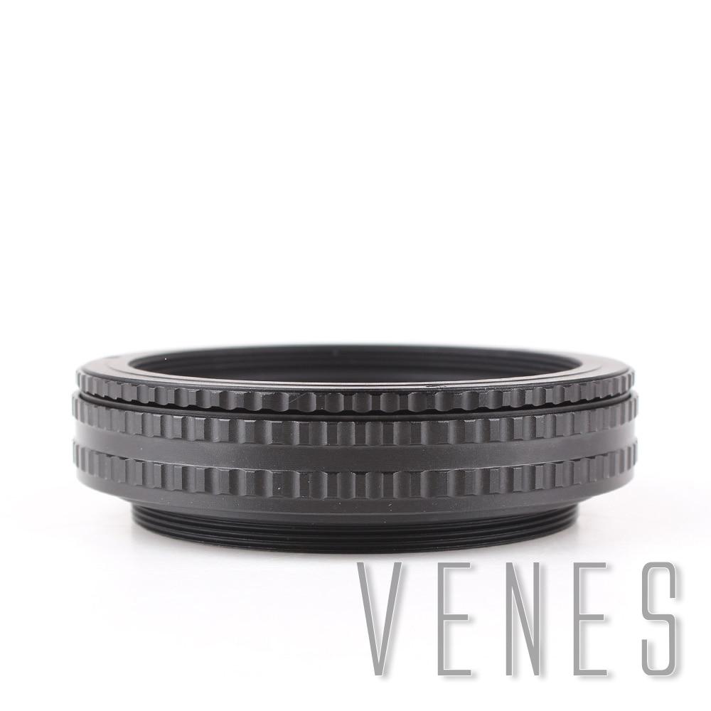 Venes M65 to M65 Mount Lens Adjustable Focusing Helicoid 17mm-31mm Macro Tube Adapter ef adjustable bellows focusing attachment black