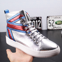 Autumn Luxury High Top Shoe Men Fashion Ankle Boots Lace Up Male Casual Shoes Youth Popular