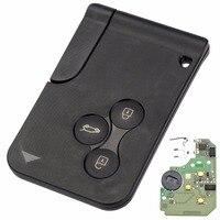 3ボタン433 mhzスマートキーfobシェルケースカード用ルノーメガーヌでpcf7947チップ1ピースリモート車のキーシェル送料無料d25