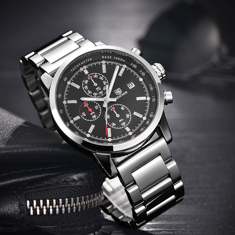 Waterproof Watches Men Analog Date Stainless Steel Strap Sport Quartz Wrist Watch Clock Man Male Relogio Masculino Ceasuri 47