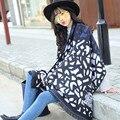 Зима Камень Зерна Леопарда Лошадь Распечатать Winter Черный Одеяло Шарф Большой Размер Шерстяной Шарф Женщин Оптовая Украшения