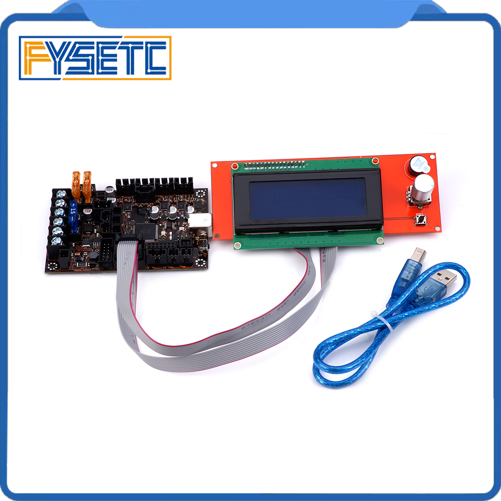 2004 LCD Display + EinsyRambo 1.1a Mainboard For Prusa i3 MK3 With 4 Trinamic TMC2130 Control 4 Mosfet Switched Outputs2004 LCD Display + EinsyRambo 1.1a Mainboard For Prusa i3 MK3 With 4 Trinamic TMC2130 Control 4 Mosfet Switched Outputs