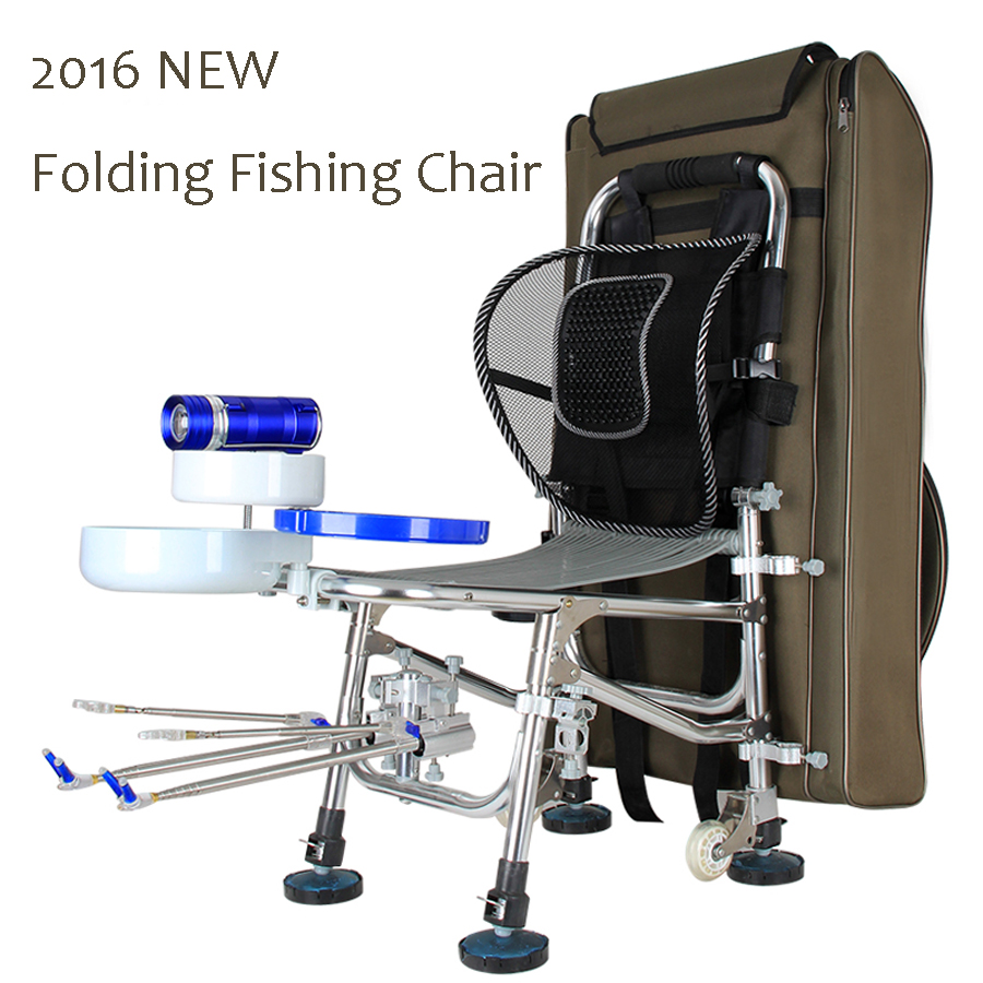 2016 NEW Portable Folding Fishing Chair Multifunctional Massage Chair For Fishing with backpack Load 300KG 10 years warranty