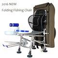 2016 NOVO Portátil Dobrável Cadeira De Pesca Cadeira Cadeira de Massagem Multifuncional Para A Pesca com mochila de Carga 300 KG 10 anos de garantia