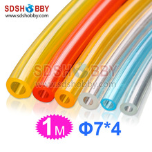 7 4mm 1 Meter Fuel Line Fuel Pipe for Gas Engine Nitro Engine Yellow Blue Color