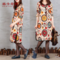 2016 National Style Plus Size Pregnant Maternity Dresses With Loose Long Sleeve Pregnancy Autumn Korean Clothing Clothes