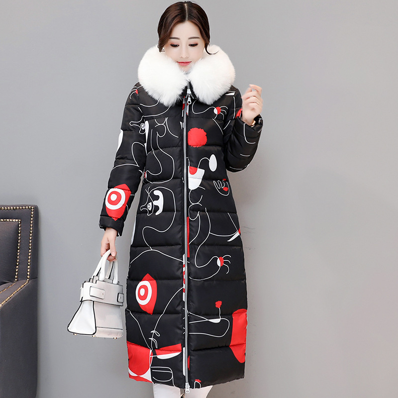 Winter Thick Outwear Coat Female Hooded Coat Woman Clothes Jacket With Pockets Female Slim Long Cotton-padded Overcoat Y413 pregnant women of han edition easy to film a word long woman with thick cotton padded clothes coat quilted jacket down jacket