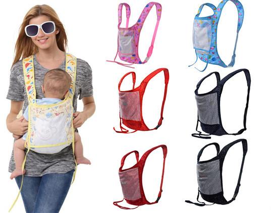 New New Arrival Caráter 4-6 Meses 7-9 Meses 2016 Simples E Confortável Respirável Bebê Mochila Infantil Sling Portadores Envoltório