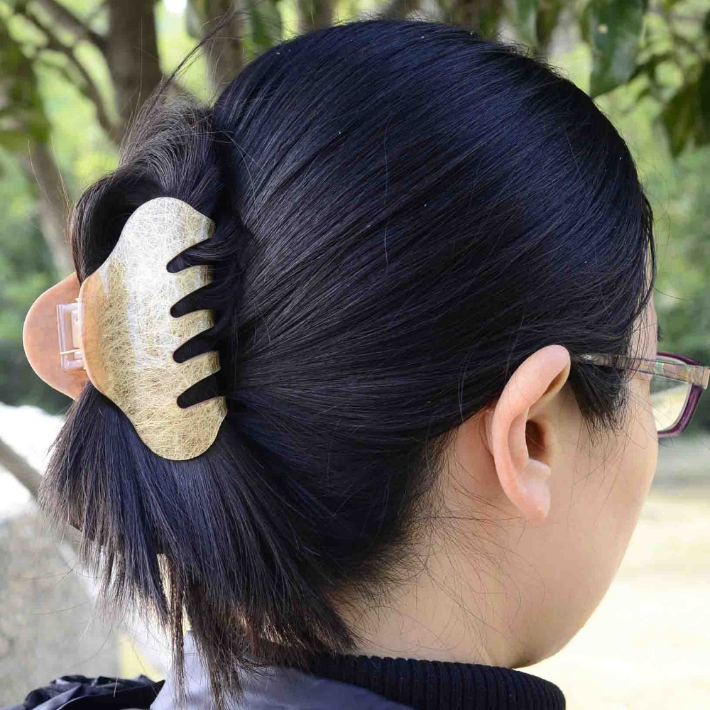 us $4.95 |10cm trendy hair comb clamp tiara bride wedding hair accessories acrylic brand letter hair claw clip for female ponytail holder-in hair