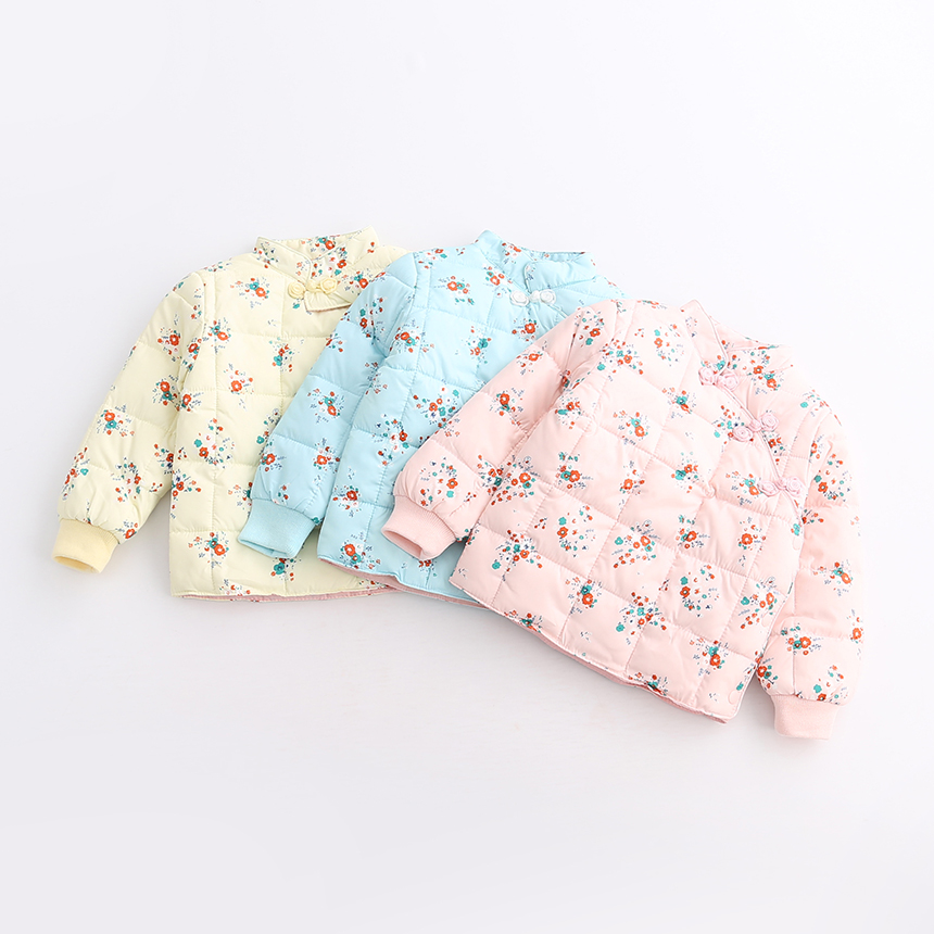 Children Girls Autumn Winter O-Neck Collar Kids Button Flower Floral Clothes Baby Outerwear Casual Fashion Clothing 6pcs/LOT 10pcs lot small flower baby kids hair