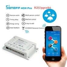 Original Sonoff 4ch R2 PRO Smart Switch 4 Channels 433MHz 2.