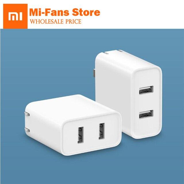 Cargador Original Xiaomi Mi 36W, 2 puertos de USB A Dual QC 3,0 18W x2, salida inteligente de carga rápida 5V = 3,0 a 9V = 2,0 a 12V = 1,5 a