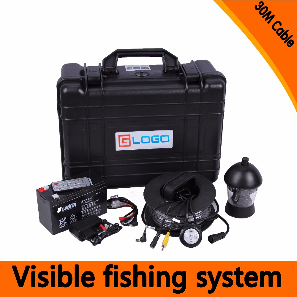 (1 Set) 30M Cable 360 Degree Rotative camera with 7inch TFT-LCD Display and HD 1000 TVL line Underwater Fishing Camera system 1 set 50m cable 360 degree rotative camera with 7inch tft lcd display and hd 1000 tvl line underwater fishing camera system