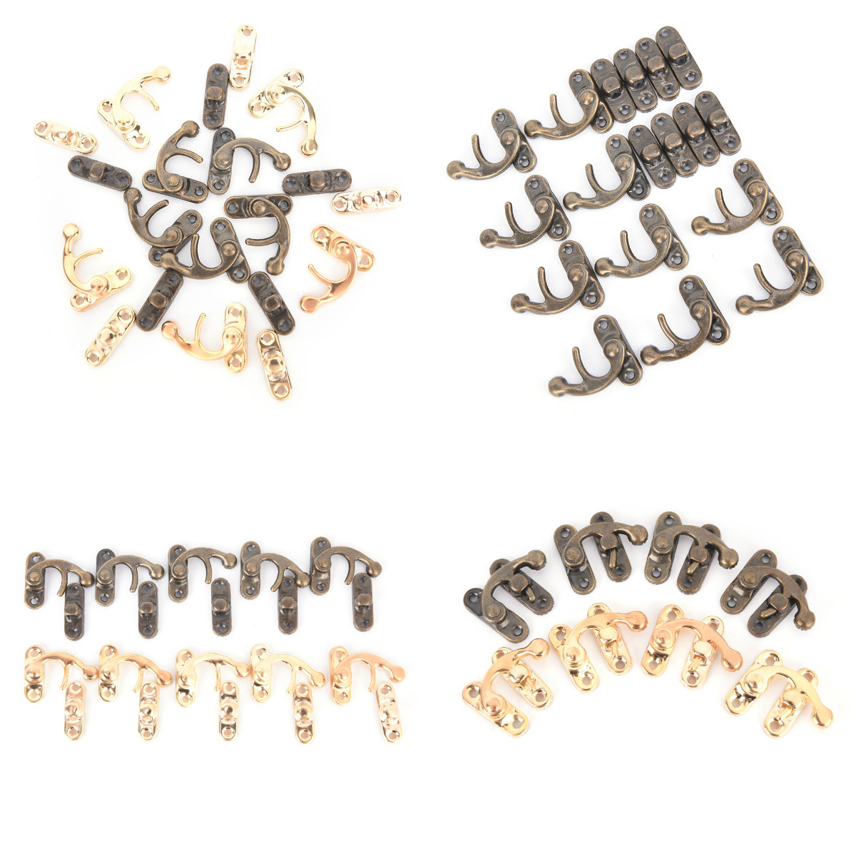10PCS/Lot Metal Lock Catch Curved Buckle Horn Lock Clasp Hook Bag DIY Handbag Locks Closure Accessories