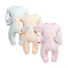 Baby Rompers Boys Girls Thick Long Jumpsuit Cotton Clothing Autumn/Winter Warm Newborn Ropa Little Elephant One Piece Clothes children autumn and winter warm clothes boys and girls thick cashmere sweaters