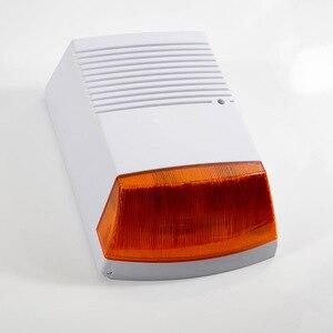 Image 5 - Fack sirena estroboscópica de alarma para exteriores, resistente al agua, con Flash rojo luz infrarroja, Led, alerta de seguridad para el hogar, sistema de alarma antirrobo