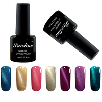 Saroline Shinny Soak Off Cats Eye Magnetic Magnet nail polish 12 color blue 3D UV lucky cheap Gel Nail Polish