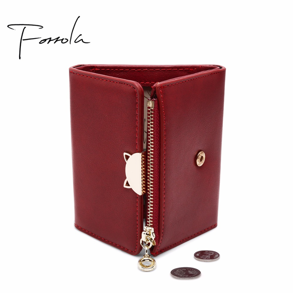 Lovely Cat Hasp Women Wallet Fashion Zipper Short Leather Female Small Coin Purse Change Mini Purse Multi Card Holder Girls Gift simple fashion zipper coin purse cute cat women purse tassel short wallet ladies small change card holder new year gift popular
