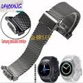 Samsung s2 gear r720 sports watch pulseira de aço pulseira relógios com inteligente