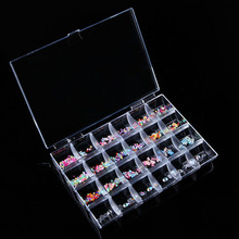24 Grid Transparent Nail Storage Box Nail Art Tools Jewelry Display Storage Box Case Organizer Holder Beads -30