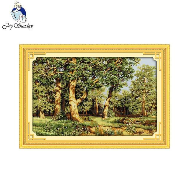 مجموعة تطريز تطريز من Joy Sunday Oak غابة عد عبر الابره لتقوم بها بنفسك 11CT 14CT عبر الابره بالجملة عبر الابره