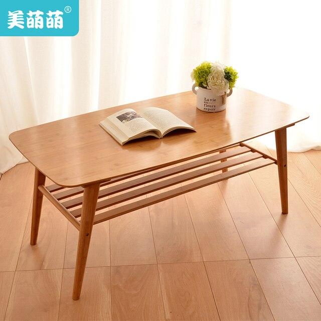 Japanese Minimalist Coffee Table Wood Tea Living Room A Few Side Bamboo  Furniture Teasideend