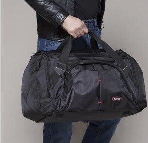 A prueba de agua bolsa de viaje de Gran capacidad de las mujeres del hombro paquetes de bolsa de lona bolsa de viaje bolsa de equipaje de viaje de negocios hombres bolso de fin de semana