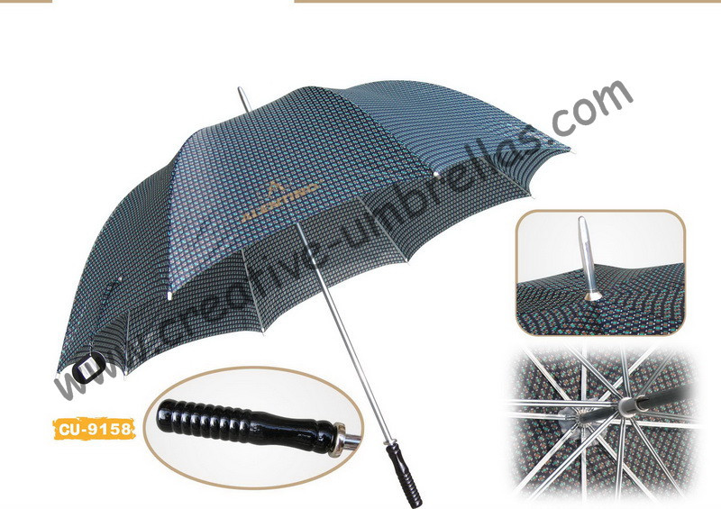 Free shipping by sea,190T polyester check fabric 14mm metal shaft and ribs,hand open advertising golf umbrella,windproof style