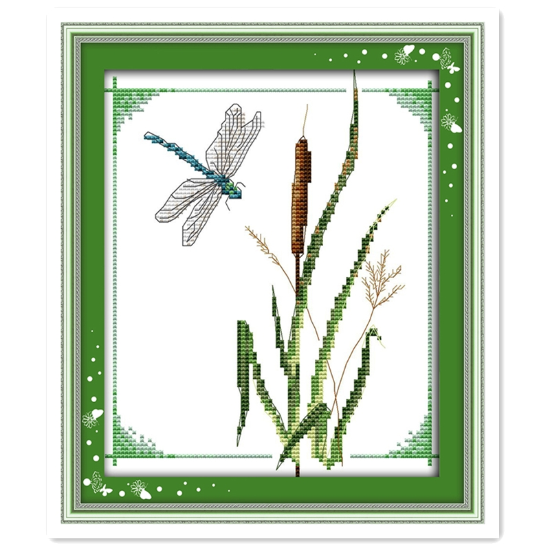 Cross-stitch Package Lower Price with Dragonfly Chinese Counted Cross Stitch Patterns Kits Kit Mezzo Punto 11ct 14ct Kits-for-embroidery Dmc Cross Stitch Fabric Relieving Rheumatism And Cold