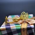Corte da mão Abotoaduras Monograma Inicial de 3 Personalizado Cuff Link Personalizado Presente do Noivo de Casamento Dos Homens Jóia