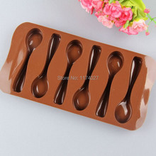 Spoon shape silicone chocolate mold silicon mould cake decorating tools  kitchen accessories Free shipping