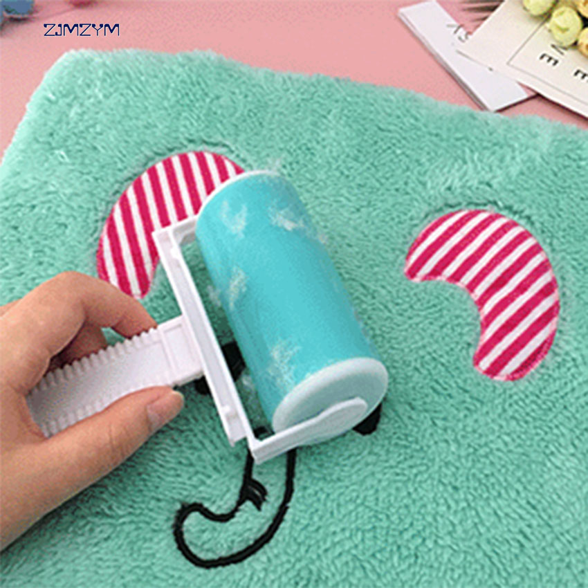 Clean sticky reusable sticky clothes wool dust collector carpet dusting fluffy manual sticky hair roll Lint Sticking Roller
