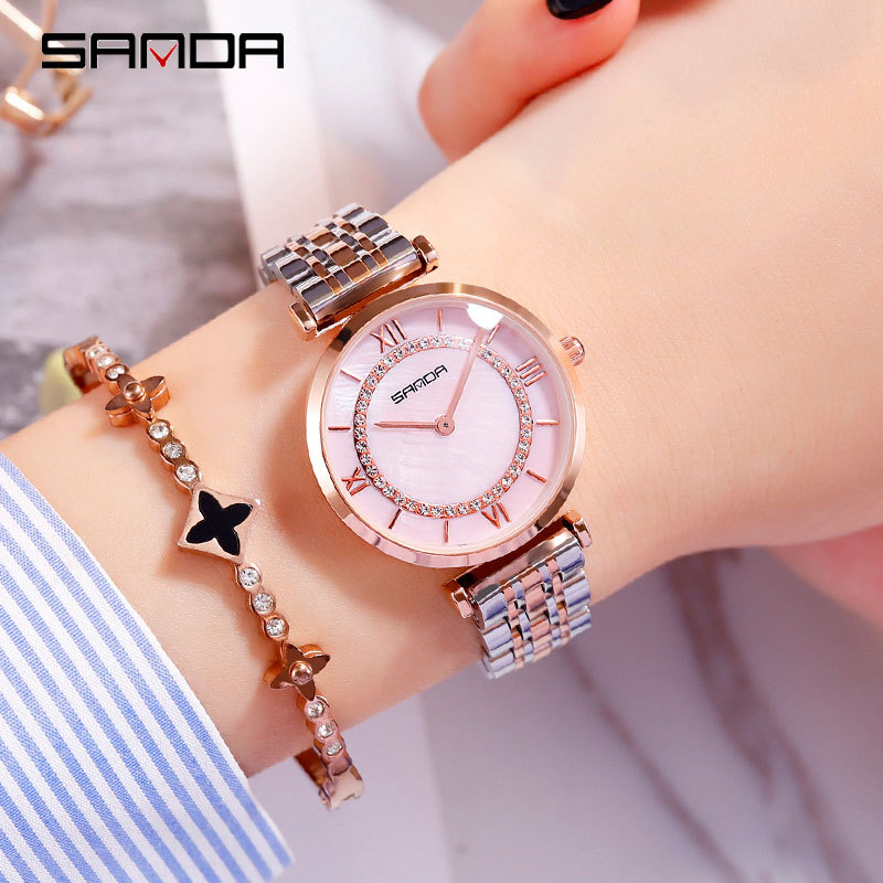 2019 fashion free shipping sport watch women Quartz Stainless Steel Alloy Hidden Clasp 3Bar Luxury Diver Water Resistant Swim in Women 39 s Watches from Watches