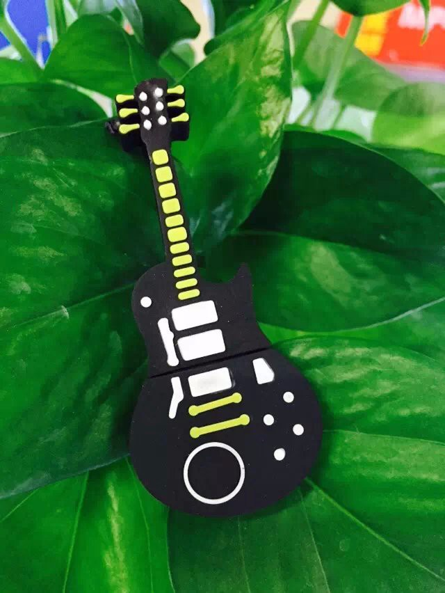 Купить с кэшбэком new Fashion Cartoon Guitar Violin 8GB 16GB 32GB USB 2.0 Flash Memory Pen Drive Stick 64g Drives Sticks Pendrives U Disk for Gift