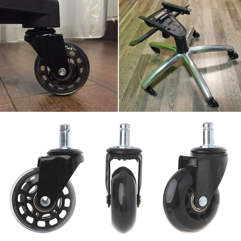 """Universal 2.5"""" PU Rollerblade Style Office Chair Wheels Replacement Chair Caster"""